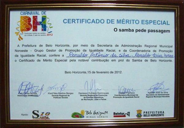 Diploma De Honra Ao M  Rito